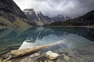 Moraine Lake, reflection, valley of the ten peaks, shoreline, banff national park, alberta, canada