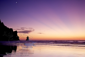 Sunset, Morro Bay, morro rock, god beams, reflection, pacific ocean, Crescent, central coast, california
